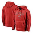 Louisville Cardinals Fanatics Branded Vault Arch Over Logo Shadow Washed Pullover Hoodie - Red