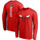 Lauri Markkanen Chicago Bulls Fanatics Branded Backer Name & Number Long Sleeve T-Shirt - Red