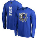 Dennis Smith Jr. Dallas Mavericks Fanatics Branded Backer Name & Number Long Sleeve T-Shirt - Blue
