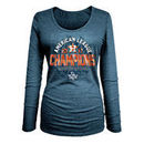 Houston Astros New Era Women's 2017 American League Champions Long Sleeve T-Shirt - Navy