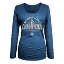 Los Angeles Dodgers 5th & Ocean by New Era Women's 2017 National League Champions Long Sleeve T-Shirt - Royal