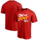 Kareem Hunt Kansas City Chiefs NFL Pro Line by Fanatics Branded Hometown Collection On The Hunt T-Shirt - Red