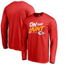 Kareem Hunt Kansas City Chiefs NFL Pro Line by Fanatics Branded Hometown Collection On The Hunt Long Sleeve T-Shirt - Red