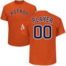 Houston Astros Majestic 2017 World Series Bound Custom Name & Number T-Shirt - Orange