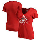 Toronto FC Fanatics Branded Women's All For One V-Neck T-Shirt - Red