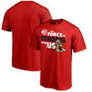 Atlanta Hawks Fanatics Branded Star Wars Jedi Strong T-Shirt - Red