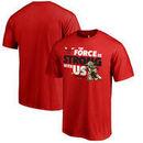 Chicago Bulls Fanatics Branded Star Wars Jedi Strong T-Shirt - Red