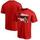 Toronto Raptors Fanatics Branded Star Wars Jedi Strong T-Shirt - Red