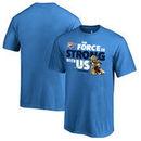Oklahoma City Thunder Fanatics Branded Youth Star Wars Jedi Strong T-Shirt - Blue