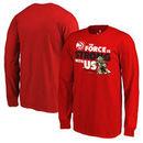 Atlanta Hawks Fanatics Branded Youth Star Wars Jedi Strong Long Sleeve T-Shirt - Red