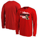 Chicago Bulls Fanatics Branded Youth Star Wars Jedi Strong Long Sleeve T-Shirt - Red