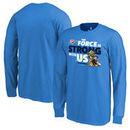 Oklahoma City Thunder Fanatics Branded Youth Star Wars Jedi Strong Long Sleeve T-Shirt - Blue