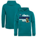 Charlotte Hornets Fanatics Branded Youth Star Wars Jedi Strong Pullover Hoodie - Aqua