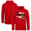 Toronto Raptors Fanatics Branded Youth Star Wars Jedi Strong Pullover Hoodie - Red