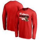Atlanta Hawks Fanatics Branded Star Wars Jedi Strong Long Sleeve T-Shirt - Red