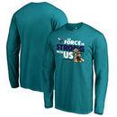 Charlotte Hornets Fanatics Branded Star Wars Jedi Strong Long Sleeve T-Shirt - Aqua