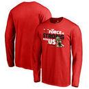 Chicago Bulls Fanatics Branded Star Wars Jedi Strong Long Sleeve T-Shirt - Red