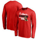 Houston Rockets Fanatics Branded Star Wars Jedi Strong Long Sleeve T-Shirt - Red
