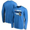 Oklahoma City Thunder Fanatics Branded Star Wars Jedi Strong Long Sleeve T-Shirt - Blue