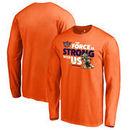 Phoenix Suns Fanatics Branded Star Wars Jedi Strong Long Sleeve T-Shirt - Orange