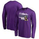Sacramento Kings Fanatics Branded Star Wars Jedi Strong Long Sleeve T-Shirt - Purple
