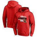 Chicago Bulls Fanatics Branded Star Wars Jedi Strong Pullover Hoodie - Red