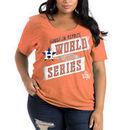 Houston Astros 5th & Ocean by New Era Women's 2017 World Series Bound Plus Size Tri-Blend V-Neck T-Shirt - Orange