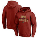 Atlanta United FC Fanatics Branded Unite & Conquer Pullover Hoodie - Cardinal