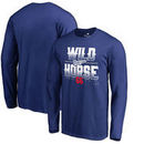 Yasiel Puig Los Angeles Dodgers Fanatics Branded Hometown Collection Wild Horse Long Sleeve T-Shirt – Royal