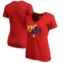 New York Red Bulls Fanatics Branded Women's Fight V-Neck T-Shirt - Red