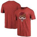 Central Washington Wildcats Fanatics Branded College Vault Primary Logo Tri-Blend T-Shirt - Cardinal