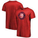 Gonzaga Bulldogs Fanatics Branded College Vault Primary Logo Shadow Washed T-Shirt - Red