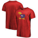 Kansas Jayhawks Fanatics Branded College Vault Primary Logo Shadow Washed T-Shirt - Red