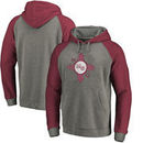 New Mexico State Aggies Fanatics Branded College Vault Primary Logo Tri-Blend Raglan Pullover Hoodie - Ash