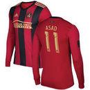 Yamil Asad Atlanta United FC adidas Long Sleeve 2016 Authentic Primary Jersey - Red