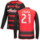 Diego Chara Portland Timbers adidas Long Sleeve 2017 Authentic Secondary Jersey - Black