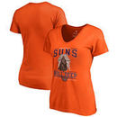 Phoenix Suns Fanatics Branded Women's Star Wars Roll Deep with the Empire V-Neck T-Shirt - Orange