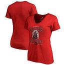 Toronto Raptors Fanatics Branded Women's Star Wars Roll Deep with the Empire V-Neck T-Shirt - Red