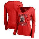 Atlanta Hawks Fanatics Branded Women's Star Wars Roll Deep with the Empire Long Sleeve T-Shirt - Red