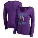 Charlotte Hornets Fanatics Branded Women's Star Wars Roll Deep with the Empire Long Sleeve T-Shirt - Purple