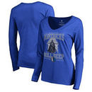 Dallas Mavericks Fanatics Branded Women's Star Wars Roll Deep with the Empire Long Sleeve T-Shirt - Royal