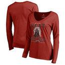 Miami Heat Fanatics Branded Women's Star Wars Roll Deep with the Empire Long Sleeve T-Shirt - Cardinal