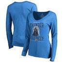 Oklahoma City Thunder Fanatics Branded Women's Star Wars Roll Deep with the Empire Long Sleeve T-Shirt - Blue