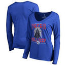 Philadelphia 76ers Fanatics Branded Women's Star Wars Roll Deep with the Empire Long Sleeve T-Shirt - Royal