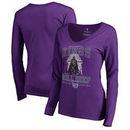 Sacramento Kings Fanatics Branded Women's Star Wars Roll Deep with the Empire Long Sleeve T-Shirt - Purple