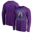 Charlotte Hornets Fanatics Branded Star Wars Roll Deep with the Empire Long Sleeve T-Shirt - Purple