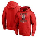 Atlanta Hawks Fanatics Branded Star Wars Roll Deep with the Empire Pullover Hoodie - Red