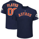 Houston Astros Majestic 2017 World Series Champions Custom Name & Number T-Shirt - Navy