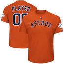 Houston Astros Majestic 2017 World Series Champions Custom Name & Number T-Shirt - Orange