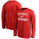 Detroit Red Wings Fanatics Branded Youth Wordmark Victory Arch Long Sleeve T-Shirt – Red